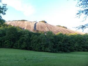 Stinkin' lava...Stone Mountain, NC, a Devonian granite monadnock.