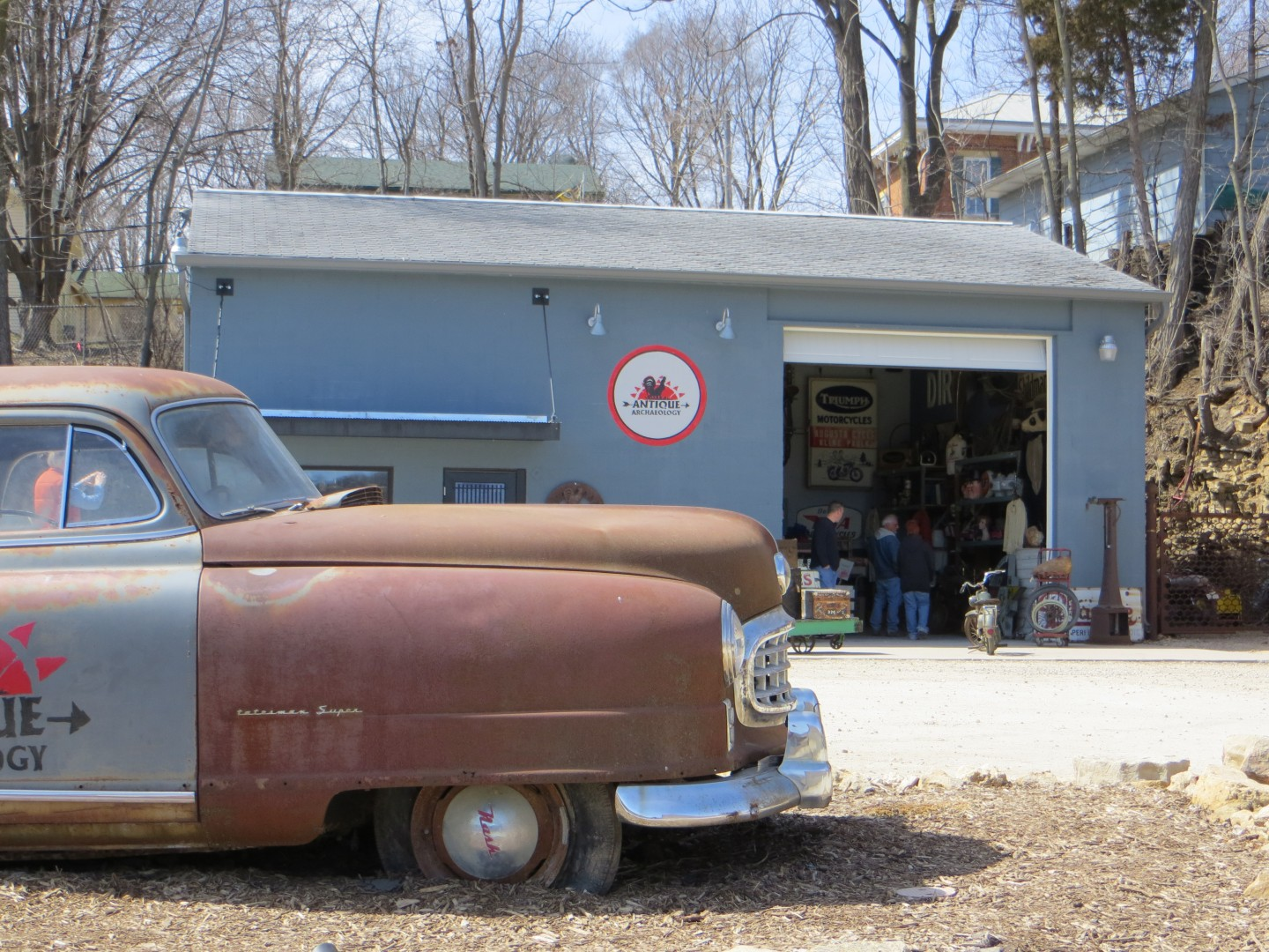 American Pickers building, Le Claire, Iowa.